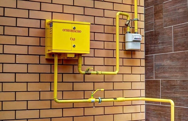 Подвод газовой трубы к частному дому